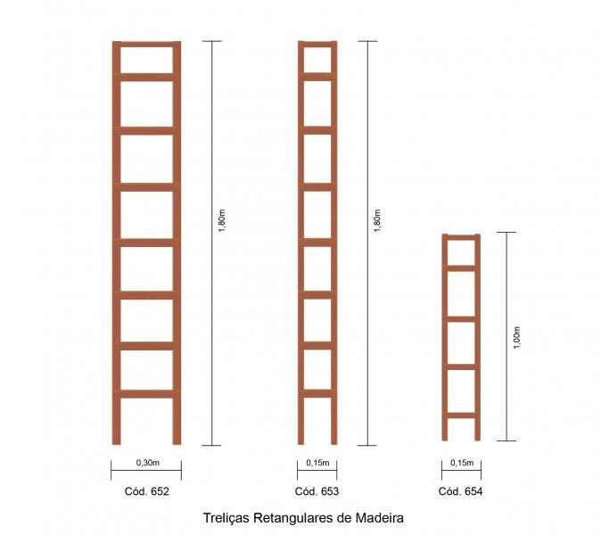 trelica jardim madeira: Acessórios em Madeira – TRELIÇAS – Treliça de Madeira Retangular